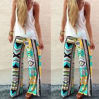 Plus Size Womens Palazzo Pants High Waist Wide Leg Culottes Long Trousers 6-20