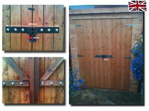 Heavy Duty shed security hasp lock, padlock protection unlike hasp with staple.
