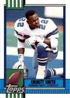 1990 Topps Traded #27T Emmitt Smith HOF ROOKIE Dallas Cowboys
