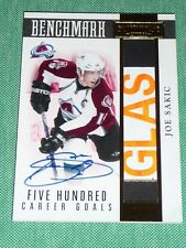 2010-11 Panini JOE SAKIC 500 GOAL AUTO STICK DOMINION BENCHMARK 5/25 * RARE