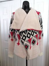 NEW! LOVE BY DESIGN Size XS X-Small Faux Fur Lined Sweater Coat Cardigan Jacket