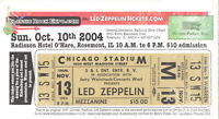 LED ZEPPELIN 1980 IN THROUGH THE OUT DOOR TOUR UMUSED TICKET No. 4 / NMT 2 MINT