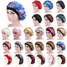 Womens Silk Night Sleep Cap Bonnet Hat Head Hair Cover Satin Elastic Turban Wrap