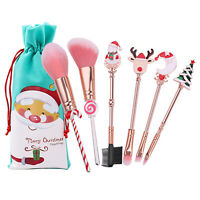 Christmas Make Up Brush Brushes Set Girls Cosmetic Birthday Xmas Gifts Blusher