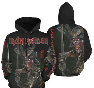 Iron Maiden Senjutsu Hoodie Sweatshirt Unisex Heavy Metal