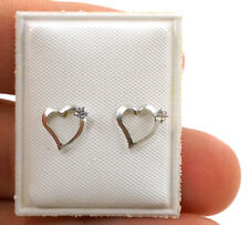 Little Heart Earrings For Tots Sterling Silver Unique Gift Idea