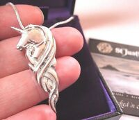 NEW ST JUSTIN JEWELLERY MADE UK CELTIC KNOT UNICORN DROP PENDANT NECKLACE GIFT