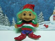 "Christmas Elf Ornament - 3"" Russ Troll Doll - New - Rare"