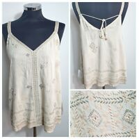 WOMENS Cream Embroidered top by EAST SIZE  SHIRT BLOUSE BOHO ETHNIC RRP 89