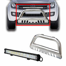 "3"" S/S Volkswagen Amarok Nudge Bar 10-14 Grille Guard + 28"" 180W Cree Led Light"