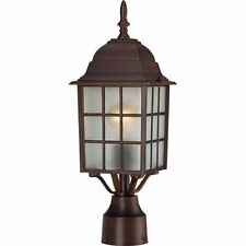 """Nuvo 60-4908 - 17"""" Outdoor Lamp Post Lights in Rustic Bronze Finish"""