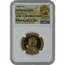 2005-S Sacagawea NGC PF70 Proof Coin Randy'L Teton Authentic Signature