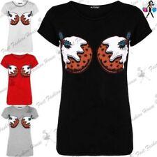 Camisetas de mujer de manga corta sin marca