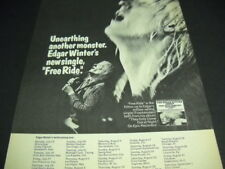 Edgar Winter July 23 - Sept. 1, 1973 Tour Dates Promo Poster Ad mint condition