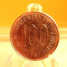 CIRCULATED 1987 100 ANHAPA DINARA YUGOSLAVIAN COIN (51317)1
