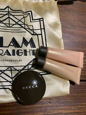 BECCA Lot Of 3 Pcs Travel Size Shimmering Skin Perfector Opal Pressed Champagne