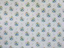 Fat Quarter Peter Rabbit Teal 100 % Cotton Quilting Fabric Beatrix Potter