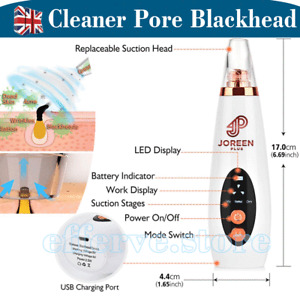 6 in 1 Pore Cleaner Blackhead Electric Acne Extractor Vacuum Comedone Suction UK