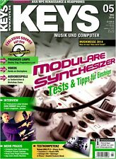 Keys 05 2014 mit DVD Dupstep Synths Modulare Synthesizer Musikmesse
