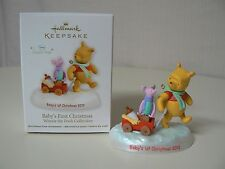 Hallmark Ornament 2012 BABY'S FIRST CHRISTMAS Pooh and Piglet NEW