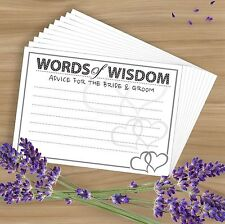 Words of Wisdom- 10 Premium Wedding/Marriage Advice Cards - Heart Design Game!