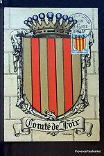 BLASON COMTE FOIX 1955 FRANCE Carte  maximum premier jour 1° timbre Yt 1044