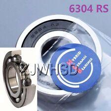 6304 2RS Si3N4 Hybrid Ceramic Ball Bearing Rubber Sealed 20 x 52 x 15mm Crank
