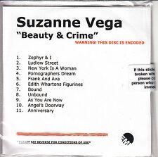 SUZANNE VEGA Beauty & Crime UK 11-trk numbered/watermarked promo test CD sealed