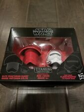 New Star Wars Black Series Titanium Elite Praetorian Guard Flametrooper Helmets