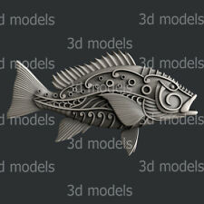 3d STL models for CNC, Artcam, Aspire, fish
