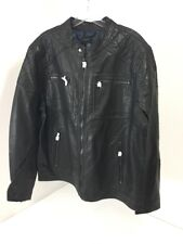ROCK REPUBLIC MEN'S FAUX LEATHER JACKET BLACK XL NWT $200