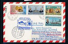 78119) LH FF Westerland Sylt - Berlin 4.7.91, card Isle of Man