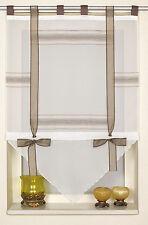 Scheibengardine Kuvert Kurzgardine Vorhangspitze 2209 60x90 cm Braun Weiß