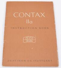 Genuine Original Zeiss Contax IIa Instruction Manual - Beautiful - English