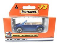 Matchbox MBX Superfast 1999 No 73 VW New Beetle Convertible blue window frame