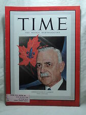 TIME Magazine September 12 1949 Canada's Prime Minister LOUIS ST.  LAURENT