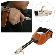 Archery Compound Bow Leather Release Aids Gear Hardcore Buckle Gear Adjust Wrist