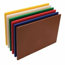 Pack of 6 Color Hygiplas Standard Low Density Polyethylene Chopping Board Set