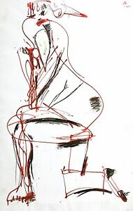 """Figuring (diffidence)"" Modern Figure Painting Art by Steven Tannenbaum"