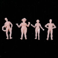 10/20/40 x un painted model railway people figures HO gauge 15mm BEACH M16