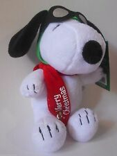 "DanDee Peanuts Christmas Musical Snoopy Goggles Scarf 10"" Plush NEW with Tags"