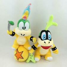 2pcs/lot Super Mario Bros Koopalings Iggy Lemmy Koopa Ball Plush Toy Soft Bowser