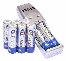 8 AA 1.2V 3000mAh NI-MH BTY batterie rechargeable + chargeur USB