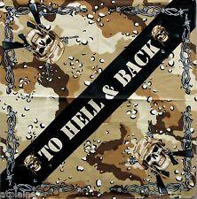 Bandana TO HELL & BACK - Import USA - Style BIKER HARLEY