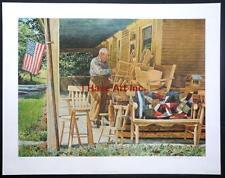 "David Armstrong-""The Furniture Maker""-L/E-S/N-Collotype-Art-Prints-Folder Incl."