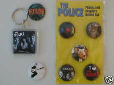 POLICE / STING badges etc ASSORTMENT of 4 official ex tour merchandise