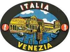 Venice- Italy  (Venizia)   Italia   Vintage-1950's  Looking Travel Decal/Sticker