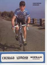 CYCLISME carte CORTINOVIS STEFANO équipe LAMPRE 1991 format 12 x 16,5 cm