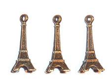 3 X Bronce Encantos Estilo Vintage Retro Torre Eiffel 30mm X 9mm