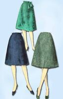 1960s Vintage Vogue Sewing Pattern 5321 Easy Misses Day Skirt Size 28 Waist